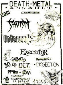 FLYER-DEATH METAL ASSAULT-LA SERENA 1993