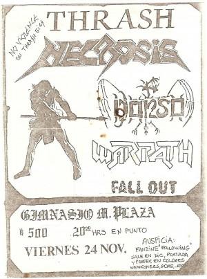 Flyer - Necrosis  Nov 1989